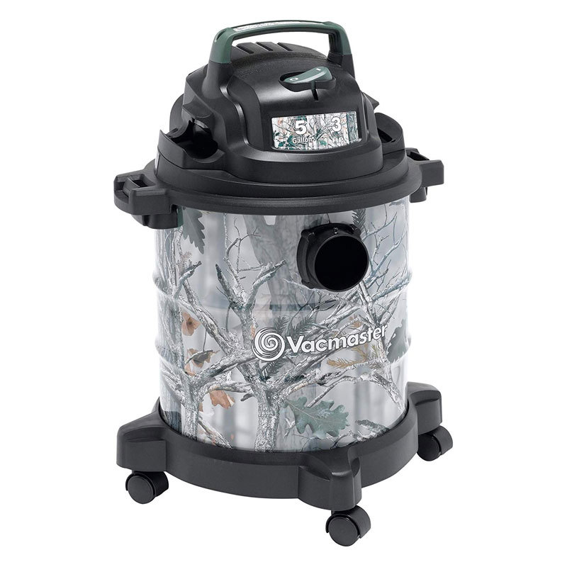 Vacmaster, VOC507S 1001, 5 Gallon 3 Peak HP Stainless Steel Game Trail Camo Wet/Dry Shop Vacuum