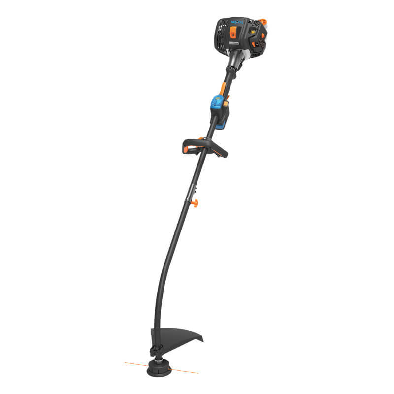 "Lawnmaster 26cc Gas NO-PULL™ Electric Push Button Start 2-Cycle 17"" curve shaft String Trimmer"
