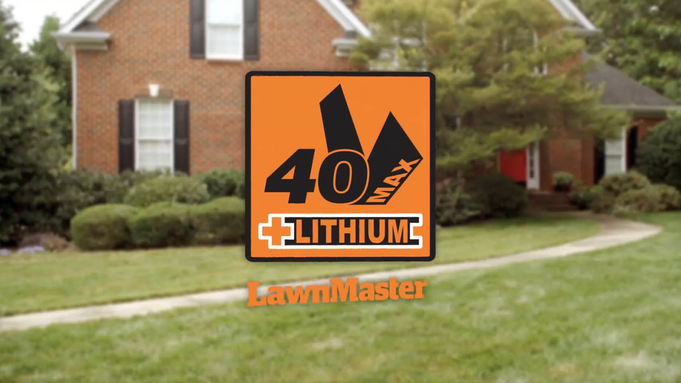 LawnMaster's 40V Max Lithium Ion 16 Inch Electric Cordless Lawn Mower