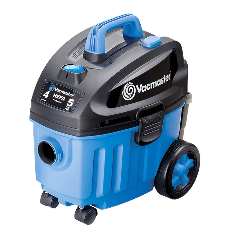 Vacmaster 4 Gallon, 5 Peak HP with 2-Stage Industrial Wet And Dry Vacuum Cleaner For Carpet, VF408