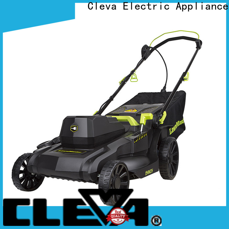 CLEVA electric best rated lawn mower factory direct supply for cleaning